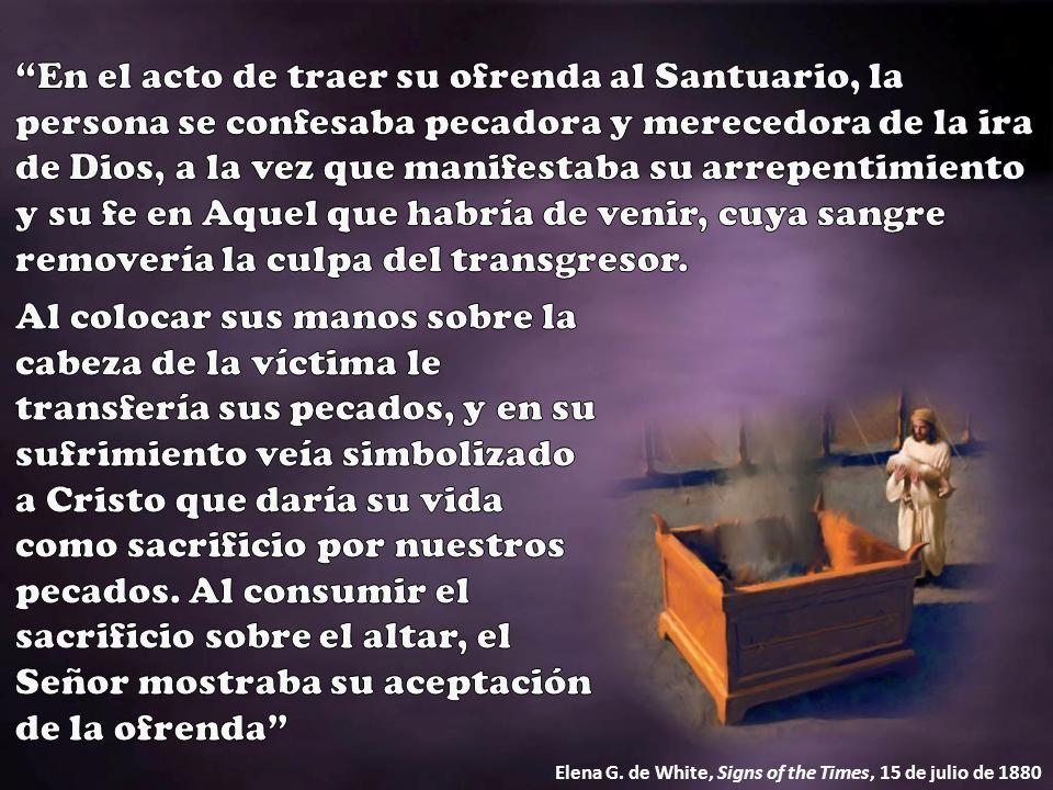 Si el pecado era del Sumo Sacerdote o de todo el pueblo, la sangre era llevada directamente al Lugar Santo y colocada sobre los cuernos del Altar del Incienso.