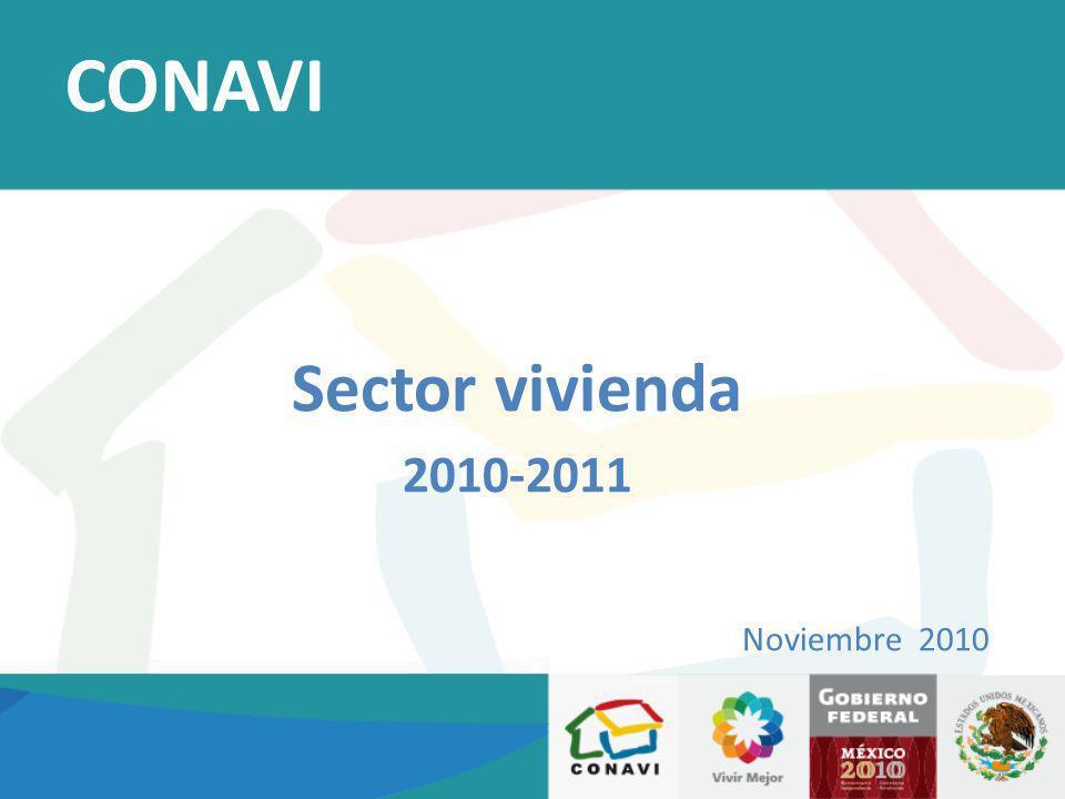 Sector vivienda 2010-2011 Noviembre 2010 CONAVI
