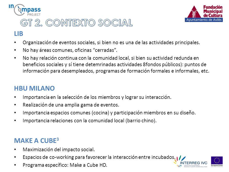 LIB Organización de eventos sociales, si bien no es una de las actividades principales.