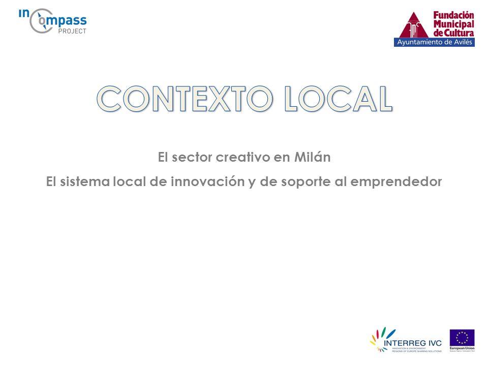El sector creativo en Milán El sistema local de innovación y de soporte al emprendedor