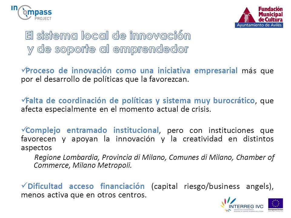 Proceso de innovación como una iniciativa empresarial más que por el desarrollo de políticas que la favorezcan.