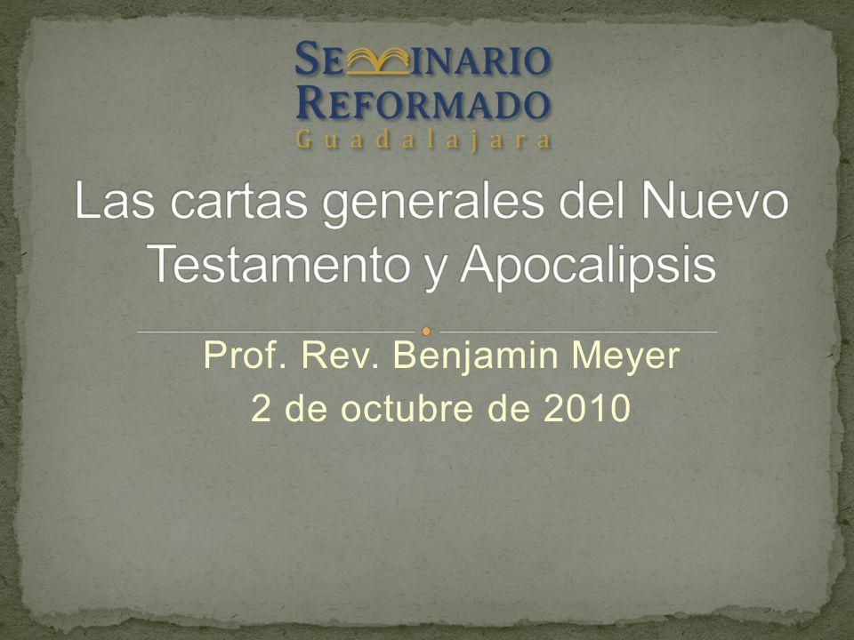 Prof. Rev. Benjamin Meyer 2 de octubre de 2010