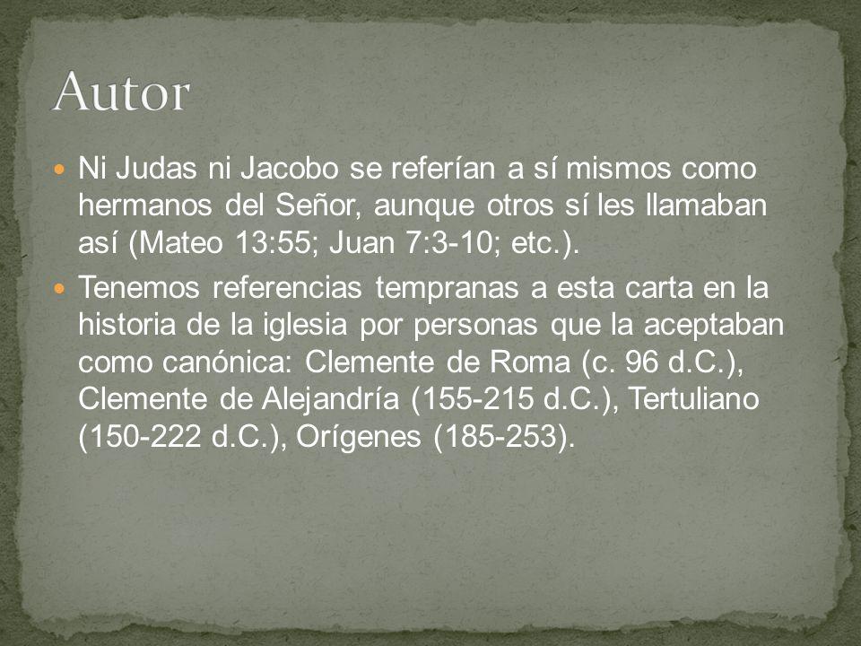Ni Judas ni Jacobo se referían a sí mismos como hermanos del Señor, aunque otros sí les llamaban así (Mateo 13:55; Juan 7:3-10; etc.).