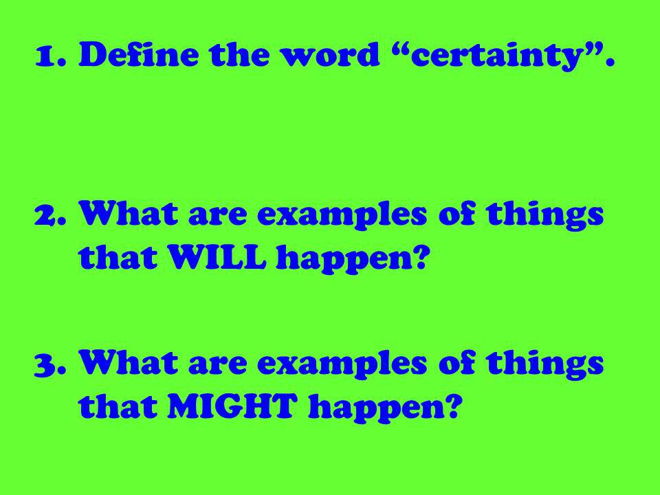 Change the following sentences to the subjunctive.