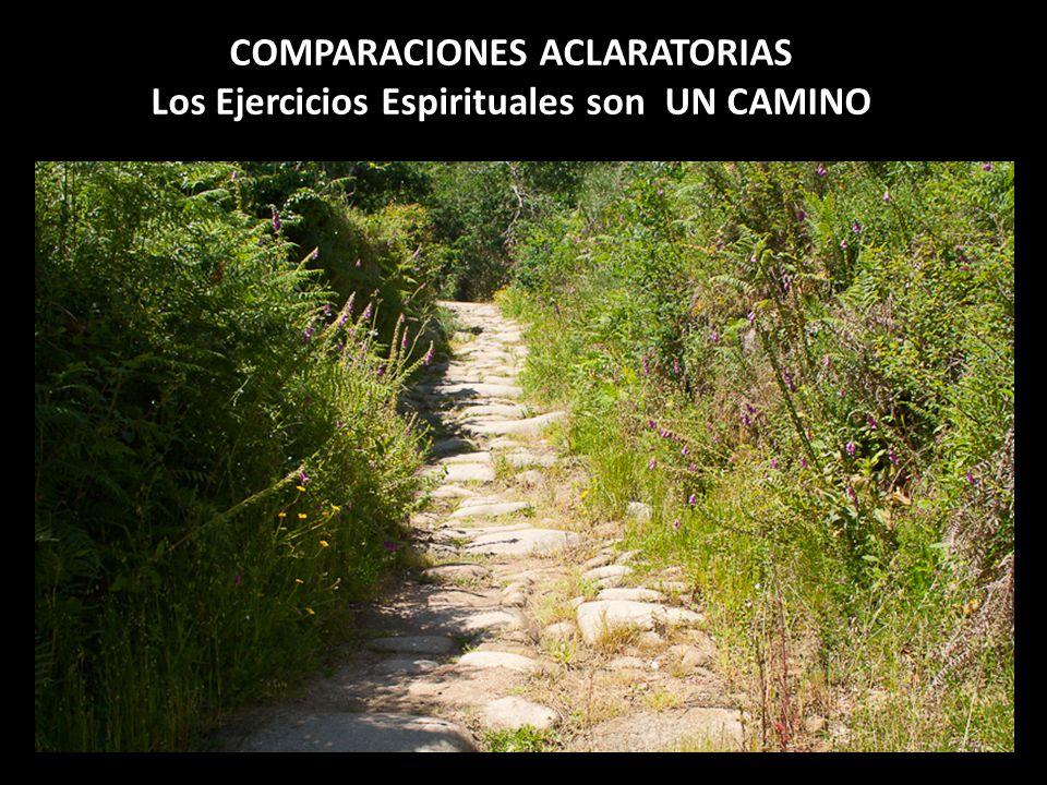 COMPARACIONES ACLARATORIAS Los Ejercicios Espirituales son UN CAMINO