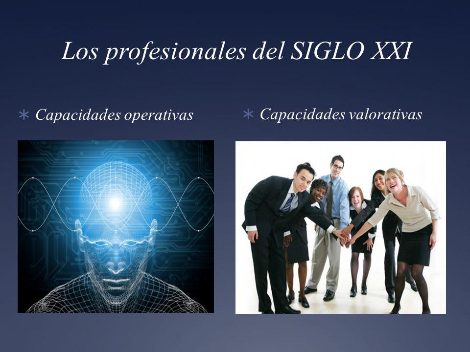 Los profesionales del SIGLO XXI Capacidades operativas Capacidades valorativas