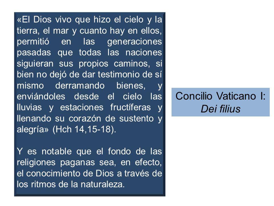«El Dios vivo que hizo el cielo y la tierra, el mar y cuanto hay en ellos, permitió en las generaciones pasadas que todas las naciones siguieran sus p