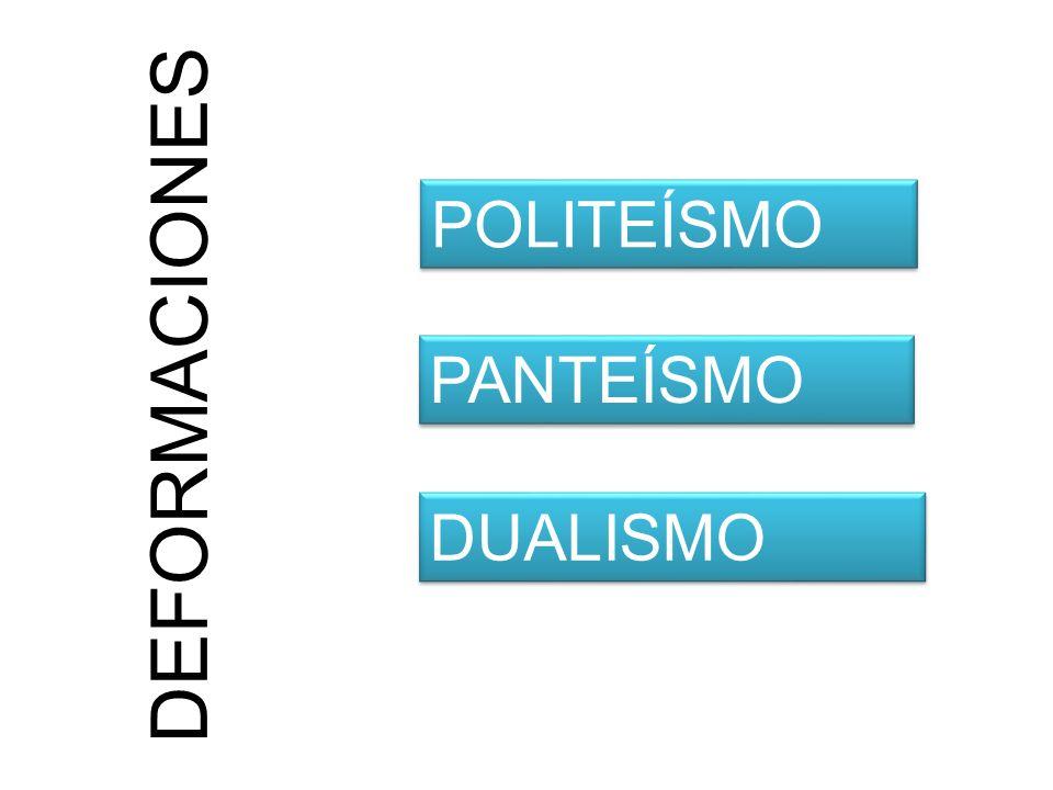 DEFORMACIONES POLITEÍSMO PANTEÍSMO DUALISMO