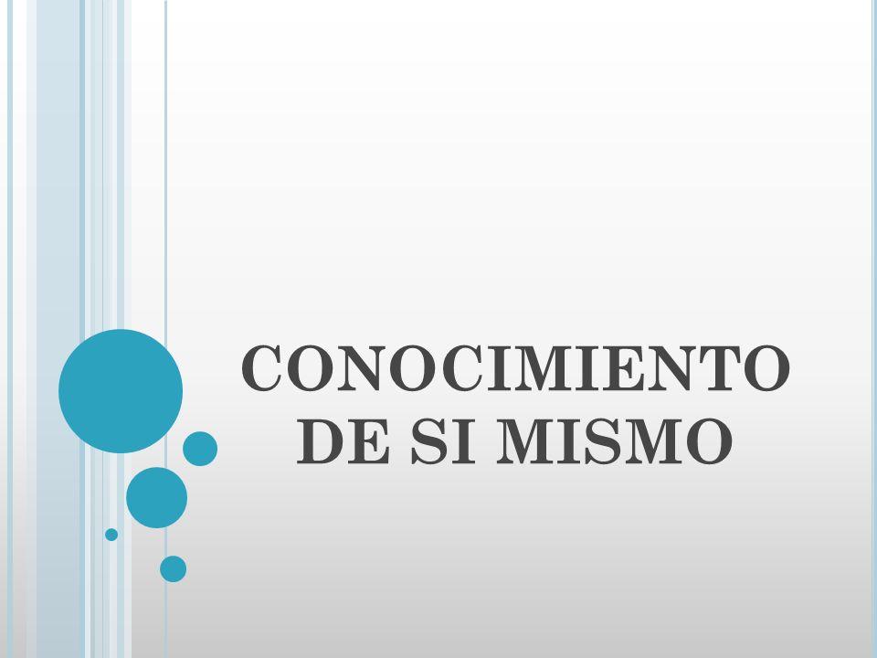 CONOCIMIENTO DE SI MISMO