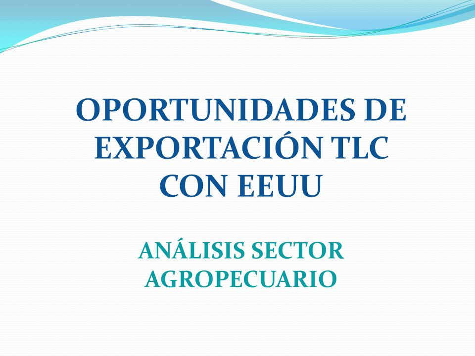 OPORTUNIDADES DE EXPORTACIÓN TLC CON EEUU ANÁLISIS SECTOR SERVICIOS