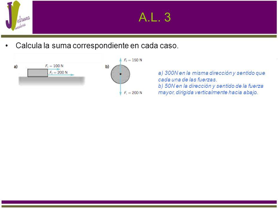 A.L.4 Dados los vectores: y. a) Calcula su suma utilizando la regla del paralelogramo.
