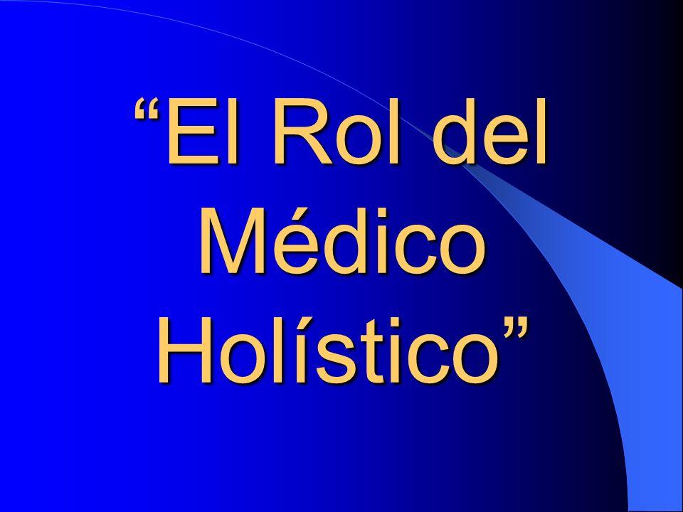 El término: Medicina Holìstica Se ha acuñado para describir la consideración del individuo como un Ser Total Total compuesto de: Cuerpo Cuerpo Mente y Emociones.