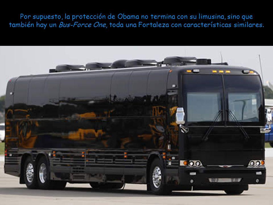 Cuando Barak Obama y su esposa Michelle fueron a Dublín (Irlanda), llevaron una de estas limusinas en avión, resultó que a pesar de tanta seguridad, e