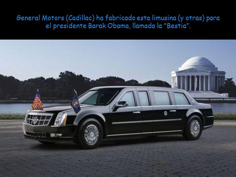 General Motors (Cadillac) ha fabricado esta limusina (y otras) para el presidente Barak Obama, llamada la Bestia.