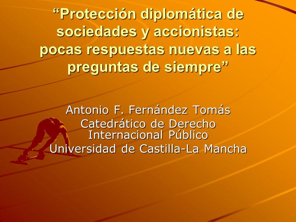 Introducción Ahmadou Sadio Diallo: Excepciones, 24-05- 2007; Fondo: 30 de noviembre de 2010 cuestiones de fondo que aparecieron ya en el asunto de la Barcelona Traction (1970) Los personajes: –Bennouna relator CDI ----- CIJ (minoritario) –Simma CDI ----- CIJ (mayoritario) –Pellet CDI------ Abogado Guinea –Ahmadou Sadio Diallo…..Empresario de color