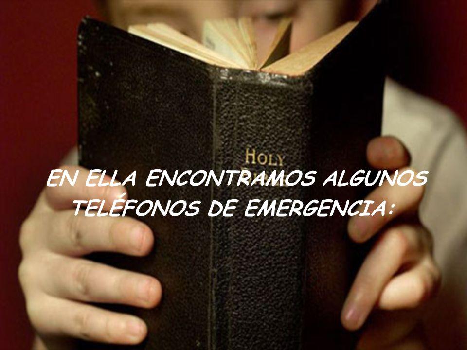 EN ELLA ENCONTRAMOS ALGUNOS TELÉFONOS DE EMERGENCIA: