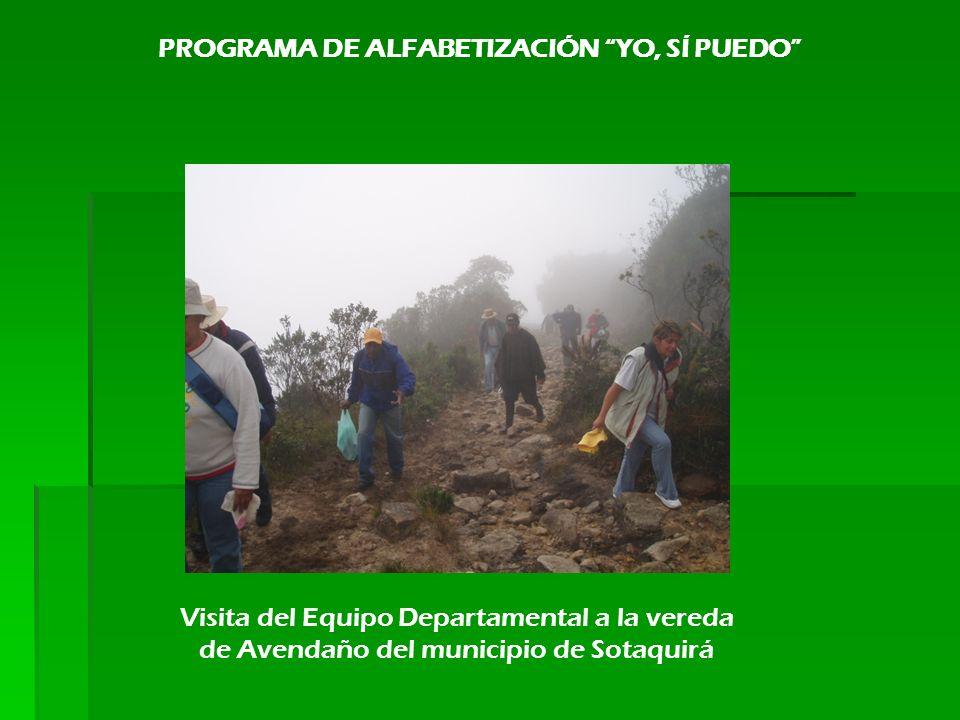 Visita del Equipo Departamental a la vereda de Avendaño del municipio de Sotaquirá