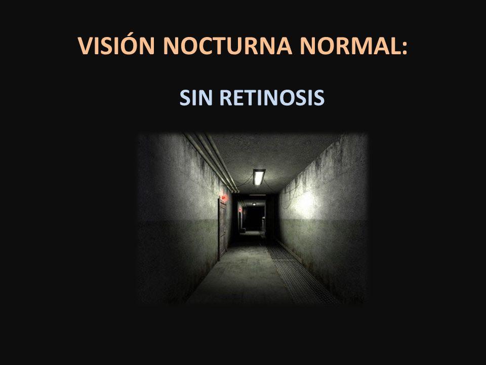 VISIÓN NOCTURNA NORMAL: SIN RETINOSIS