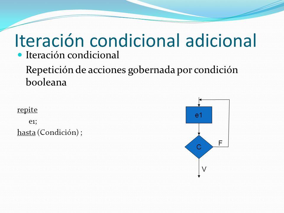 Iteración condicional básica o primitiva Ejemplo mientras.