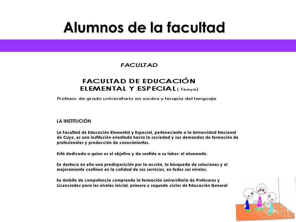 ALUMNOS DE LA FACULTAD