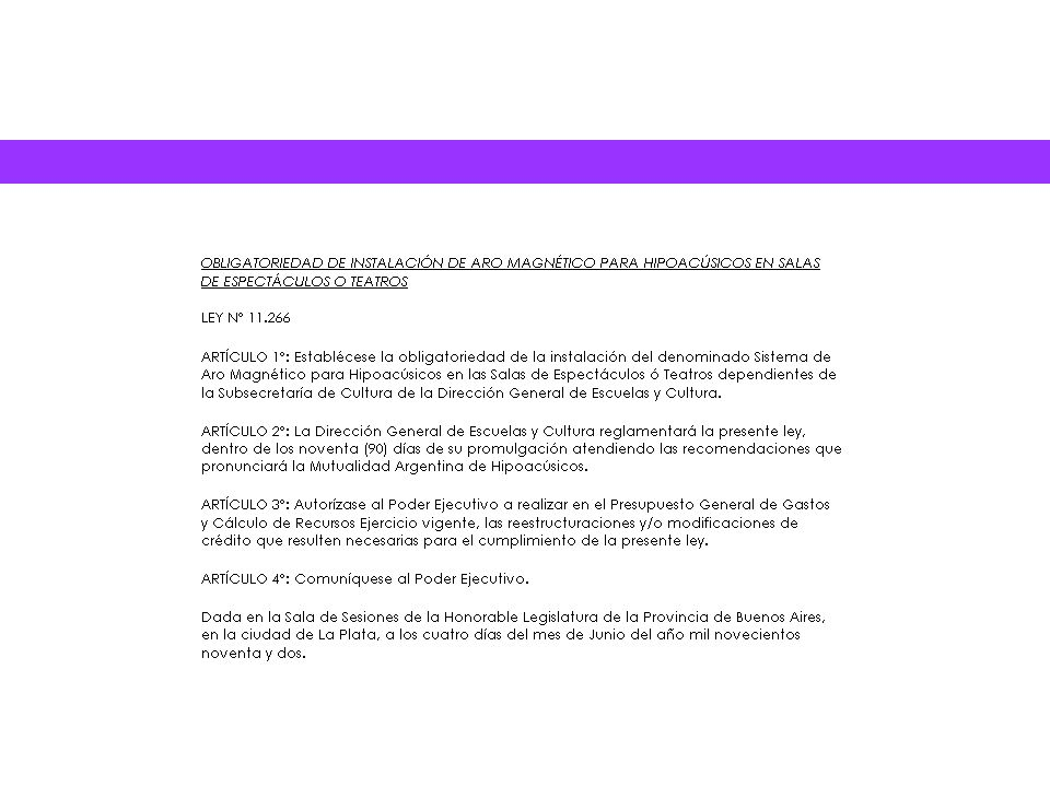 Legislación argentina con respecto a las personas con dificultades auditivas