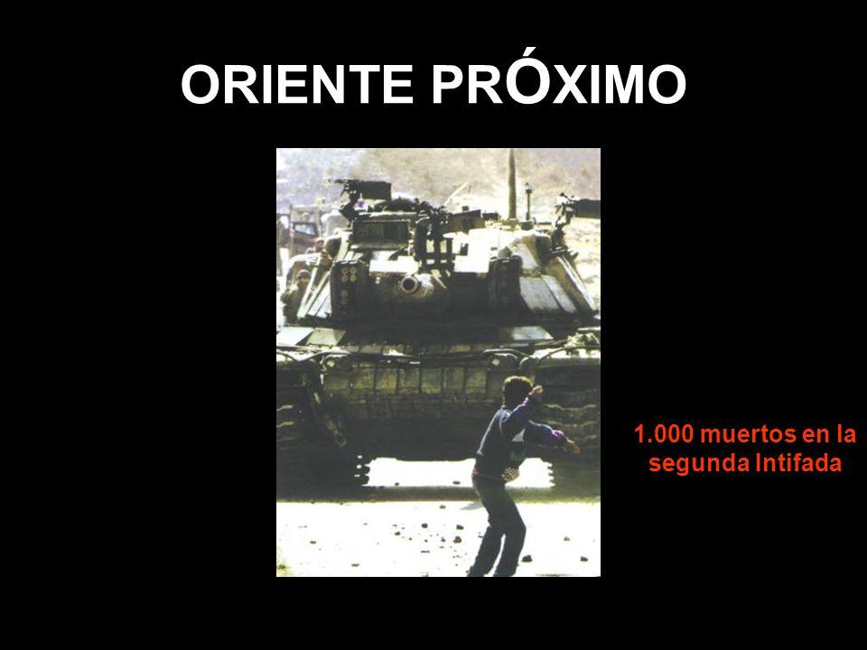 ORIENTE PR Ó XIMO 1.000 muertos en la segunda Intifada