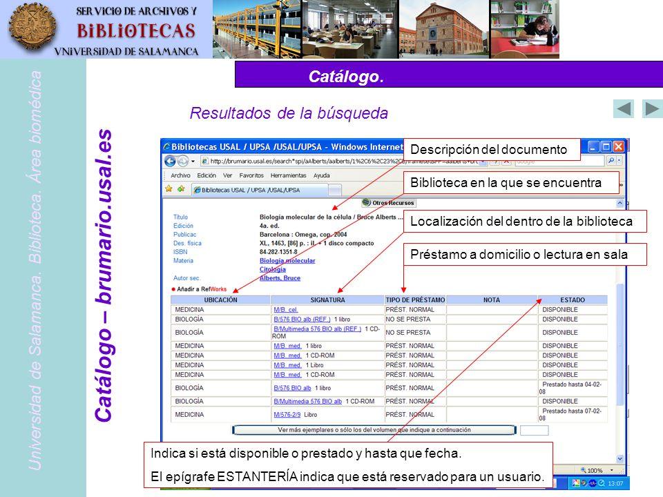 Catálogo.PubMed – www.pubmed.gov Universidad de Salamanca.