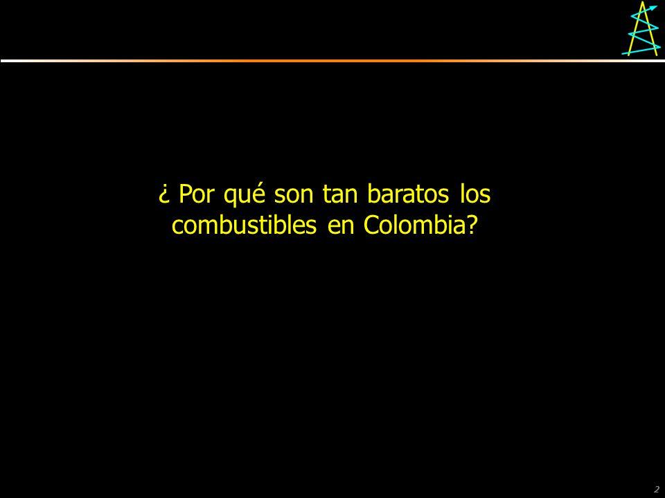 2 ¿ Por qué son tan baratos los combustibles en Colombia