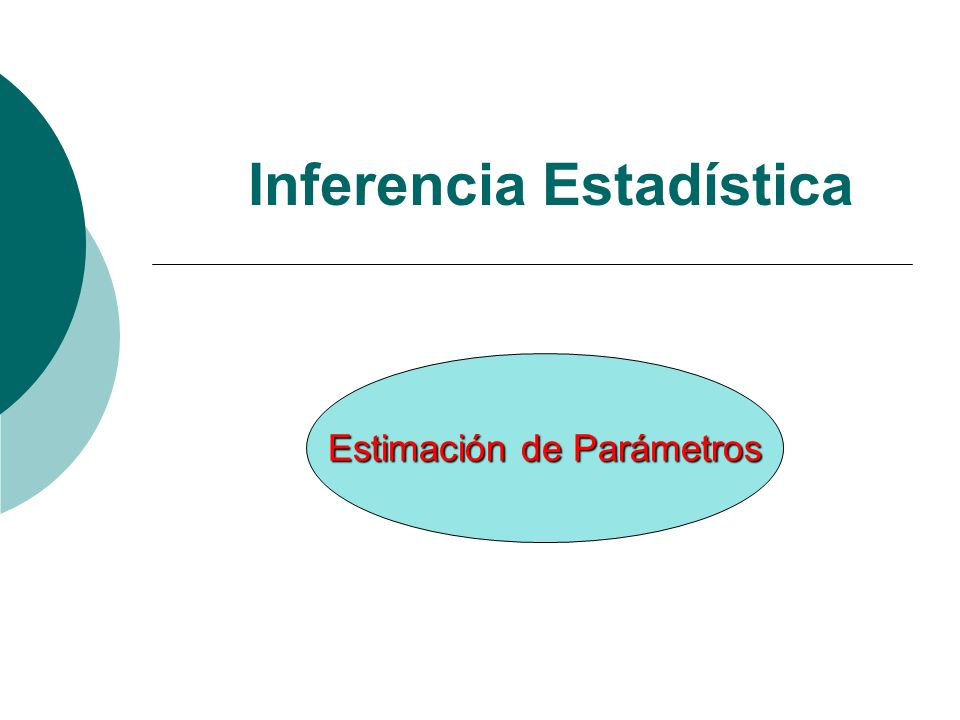 Estimación Buscar valores razonables para los parámetros que caracterizan una distribución Si la distribución supuesta es normal, los parámetros más buscados son la esperanza o media (µ) y la varianza ( 2 )