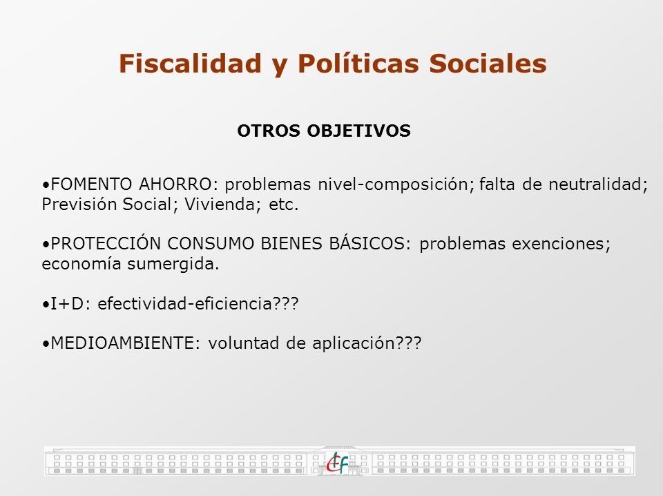 Fiscalidad y Políticas Sociales