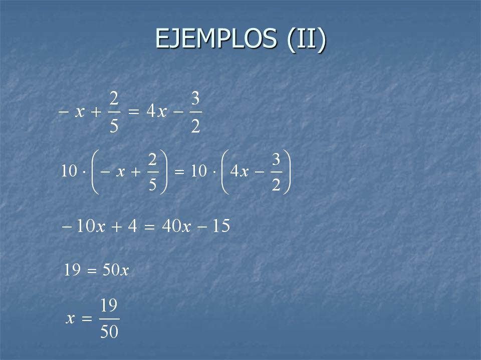EJEMPLOS (II)