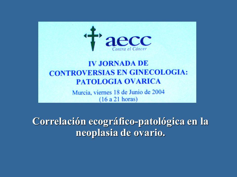 Correlación ecográfico-patológica en la neoplasia de ovario.