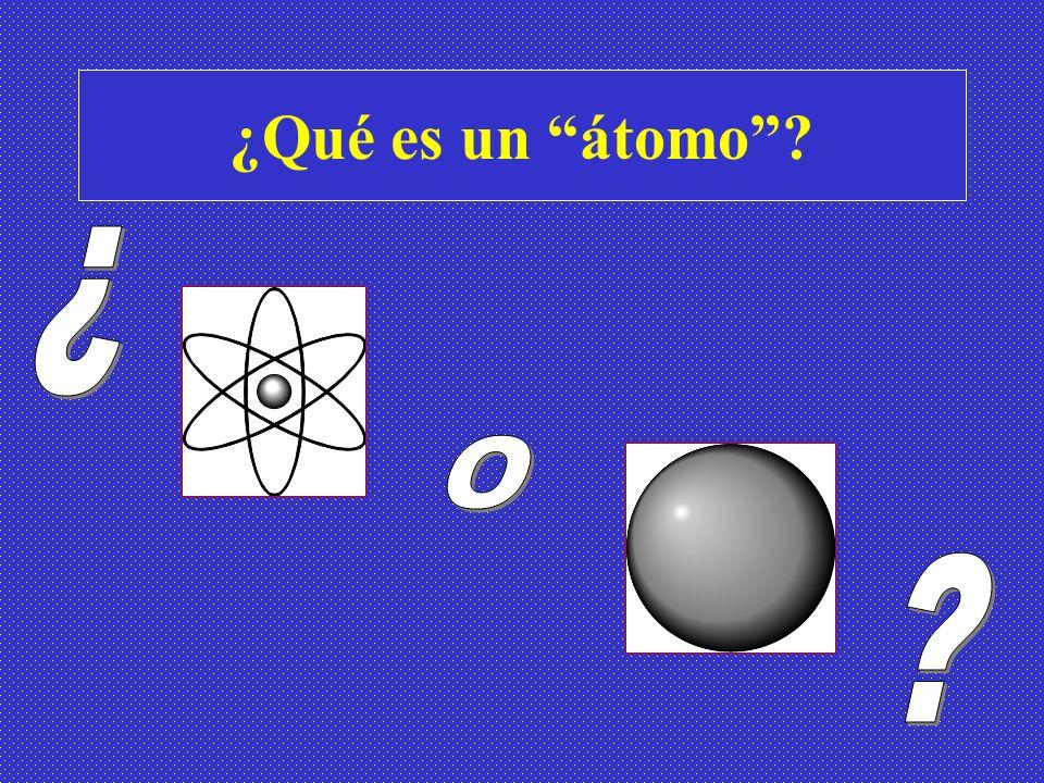 ¿Qué es un átomo?