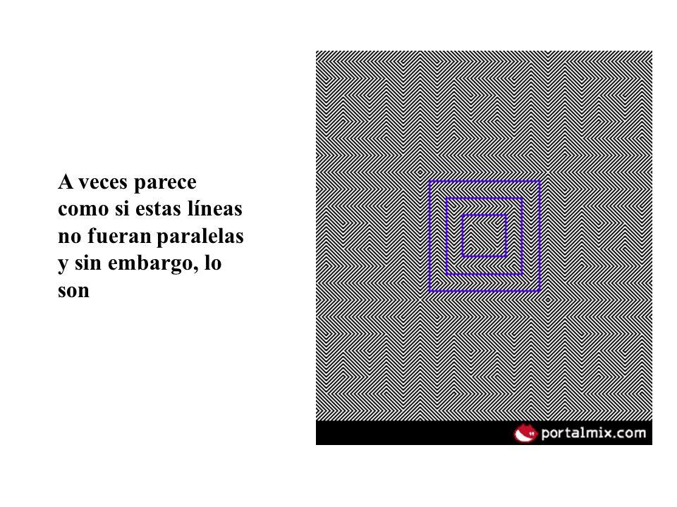 A veces parece como si estas líneas no fueran paralelas y sin embargo, lo son
