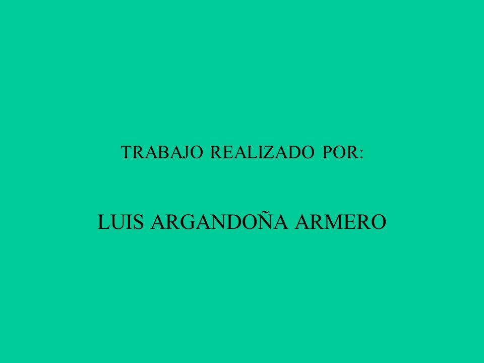 TRABAJO REALIZADO POR: LUIS ARGANDOÑA ARMERO