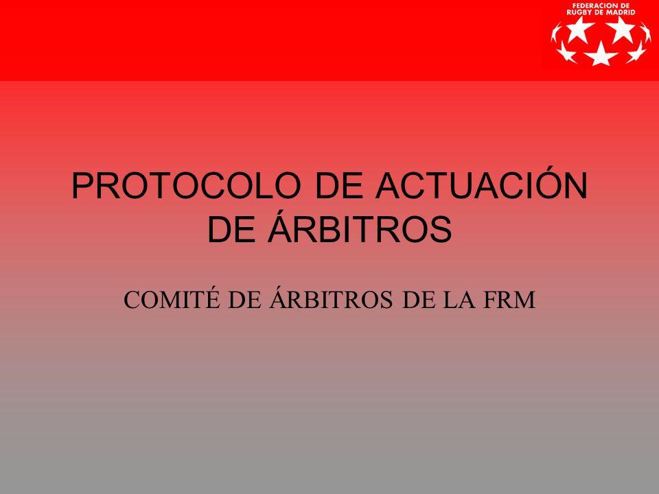 Protocolo de Actuación de Árbitros2 COMUNICADO DEL PRESIDENTE Las siguientes normas no son exactamente un Reglamento.