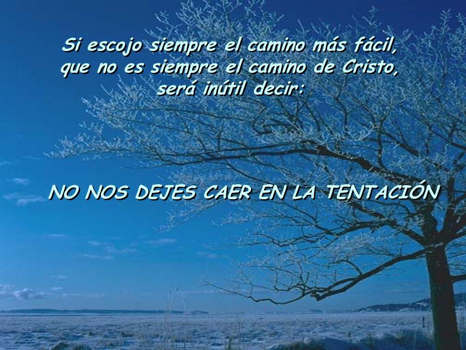 Si escojo siempre el camino más fácil, que no es siempre el camino de Cristo, será inútil decir: Si escojo siempre el camino más fácil, que no es siem