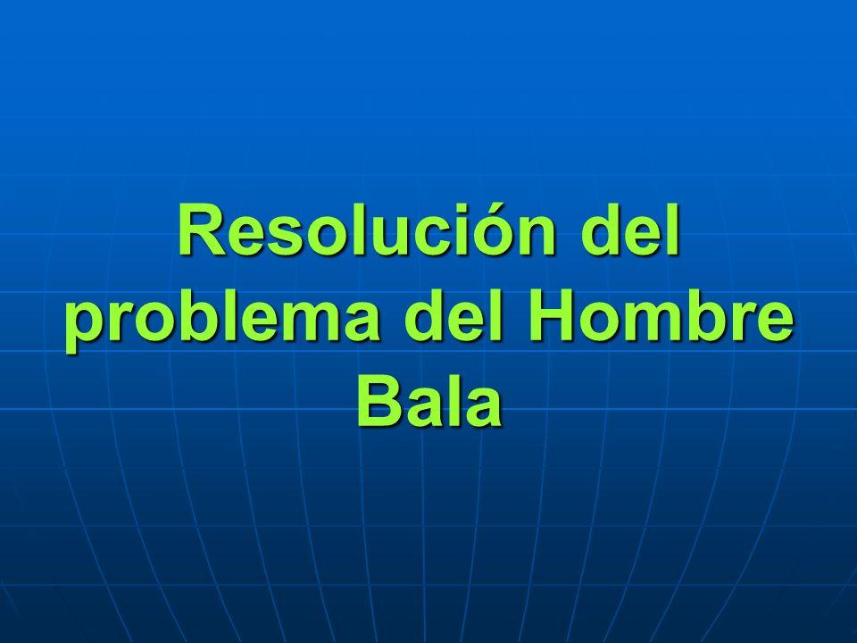 Resolución del problema del Hombre Bala