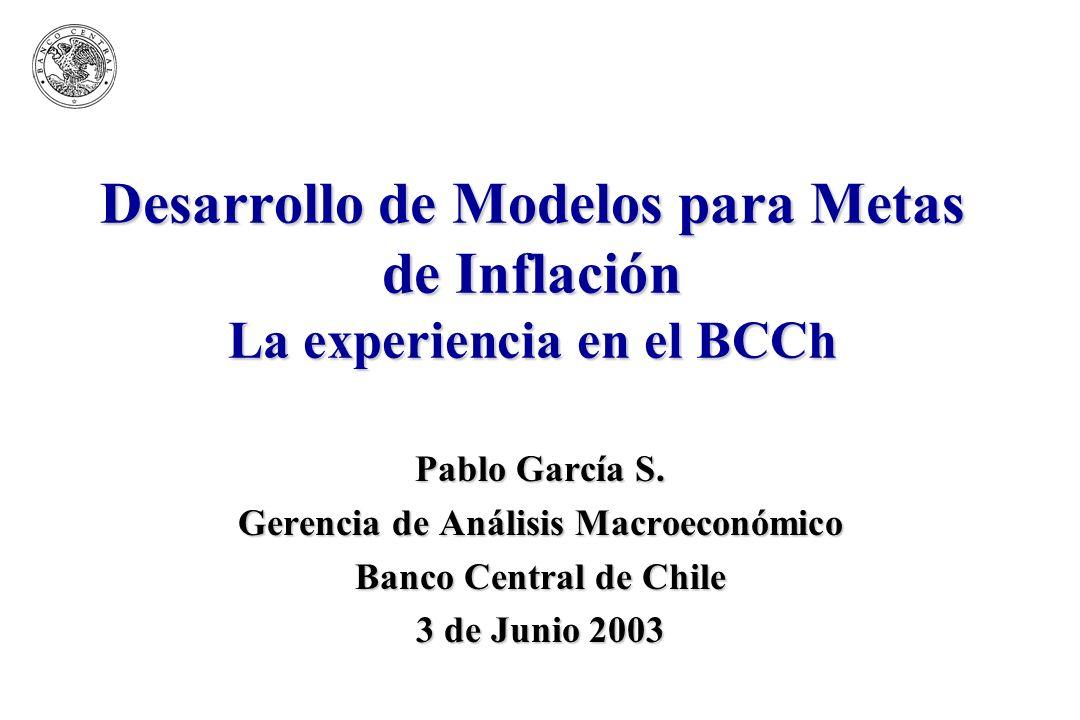BCCh2 Estructura ¿Para qué un modelo.¿Cuán pequeño puede ser el modelo.