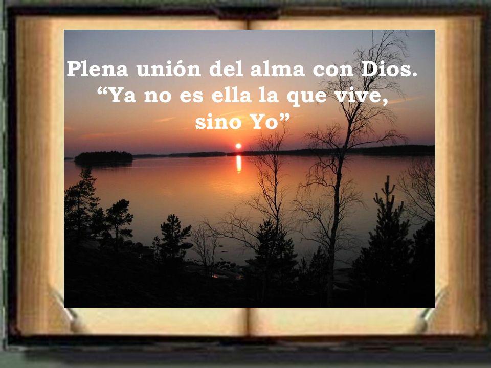 Plena unión del alma con Dios. Ya no es ella la que vive, sino Yo