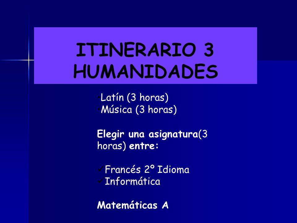 ITINERARIO 2 TÉCNICO Educación Plástica y visual ( 3 horas) Educación Plástica y visual ( 3 horas) Tecnología (3 horas) Tecnología (3 horas) Elegir un