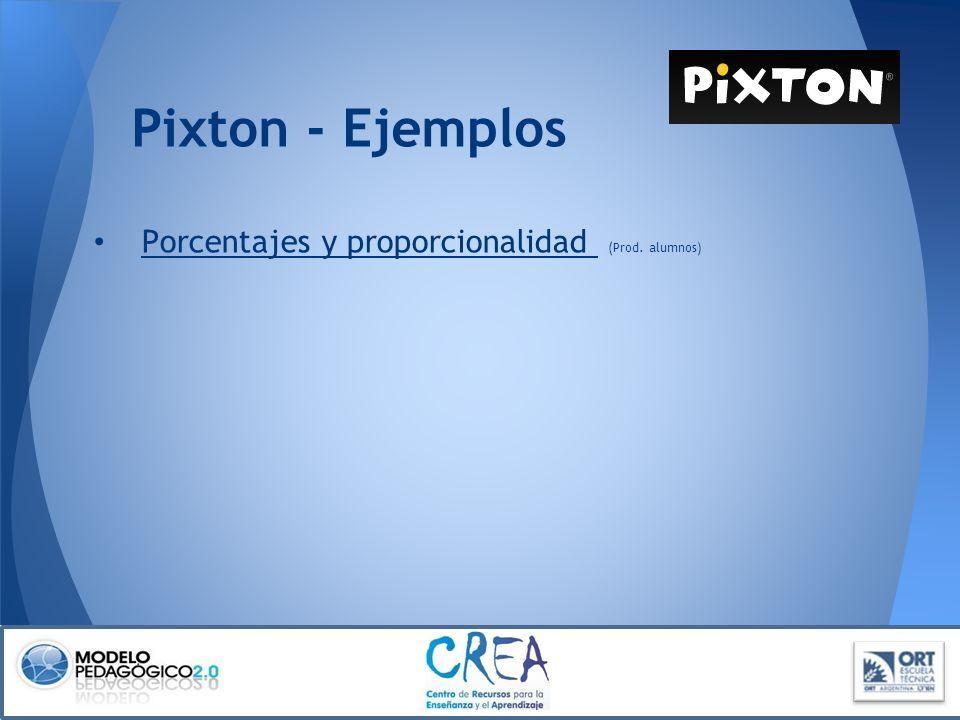 Pixton - Ejemplos Porcentajes y proporcionalidad (Prod. alumnos) Porcentajes y proporcionalidad