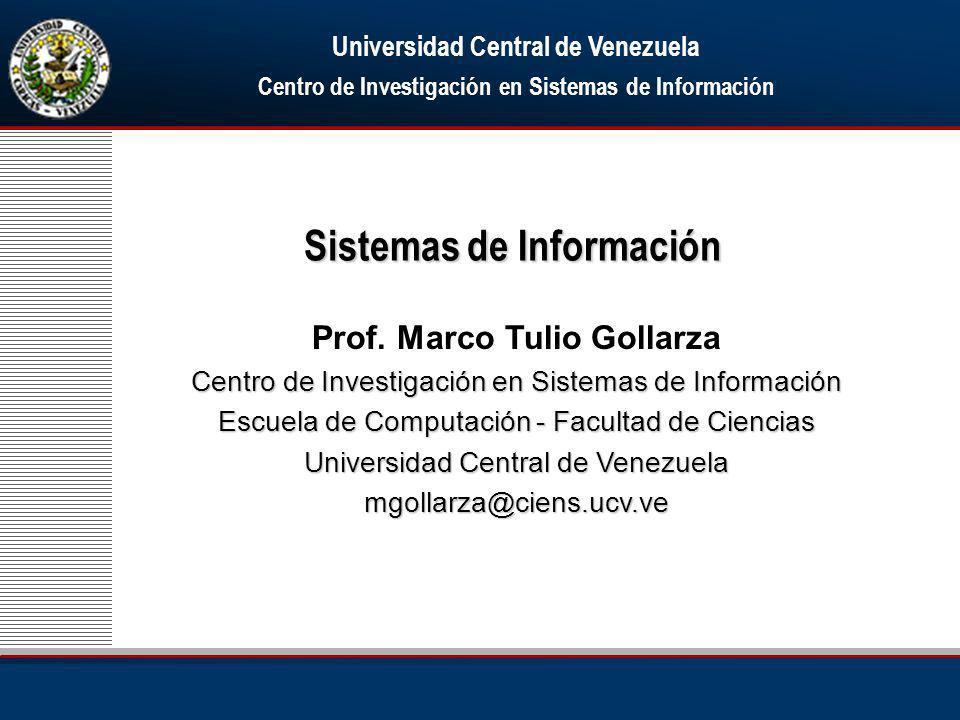 Sistemas de Información Prof.