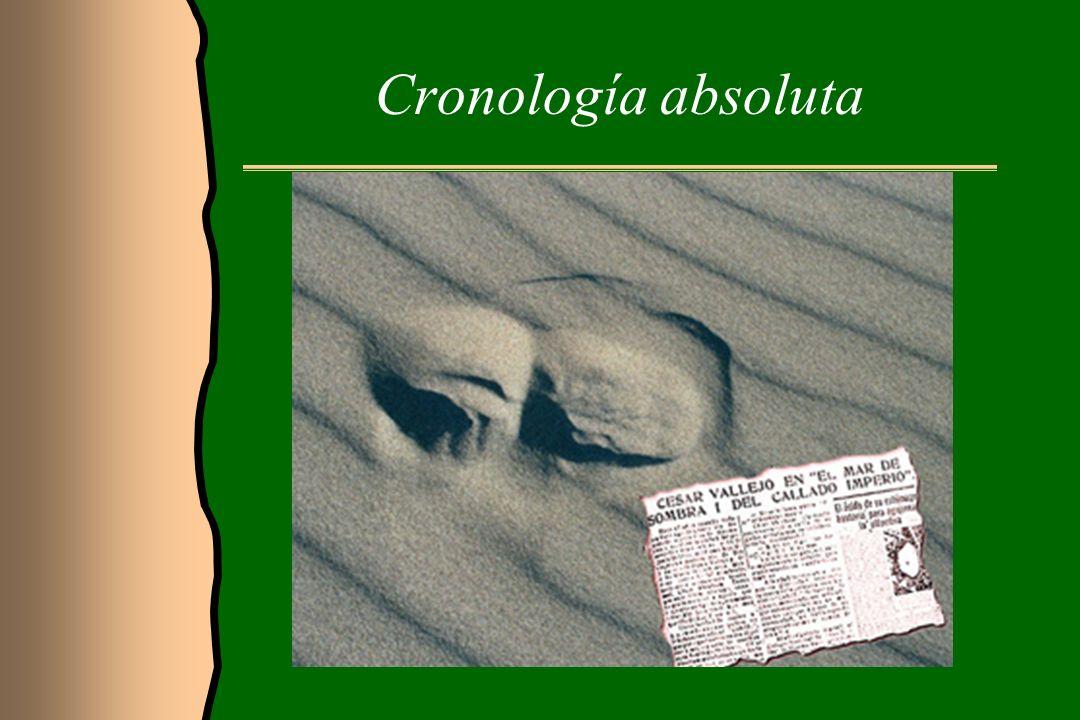 Cronología relativa Para obtener la cronología relativa podemos basarnos en principios geológicos, como son: El principio de superposición de los estratos.