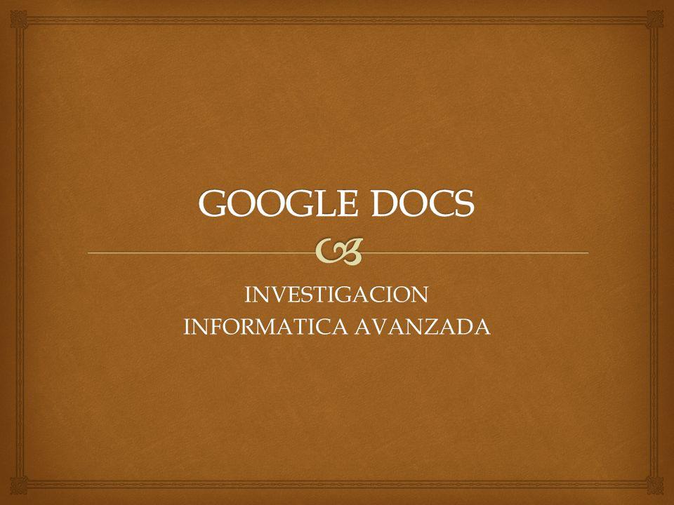 INVESTIGACION INFORMATICA AVANZADA