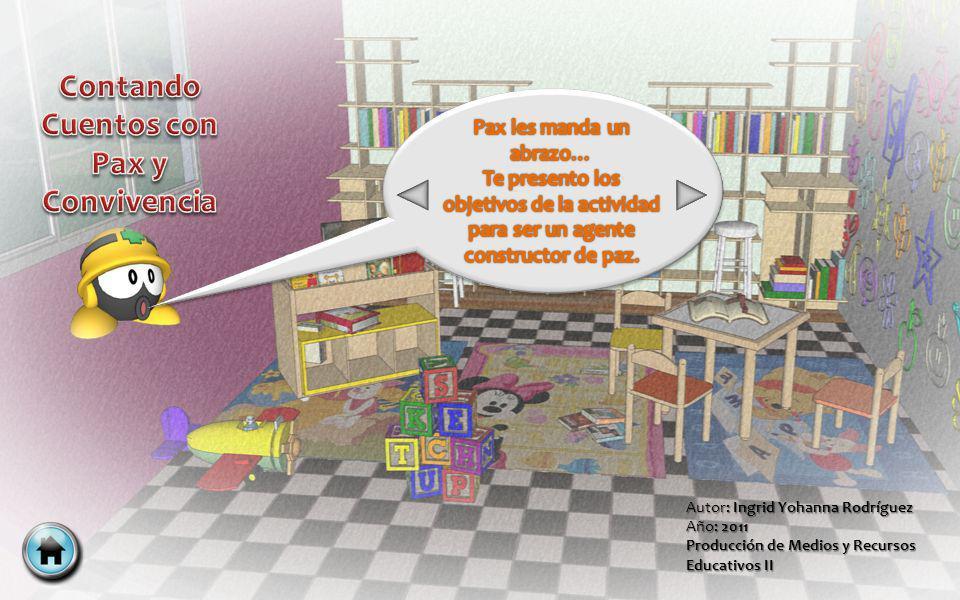 Autor: Ingrid Yohanna Rodríguez Año: 2011 Producción de Medios y Recursos Educativos II Inicio Menú Principal Siguiente Anterior Volver Salir
