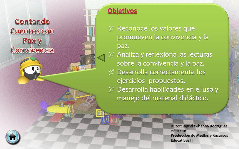 Autor: Ingrid Yohanna Rodríguez Año: 2011 Producción de Medios y Recursos Educativos II