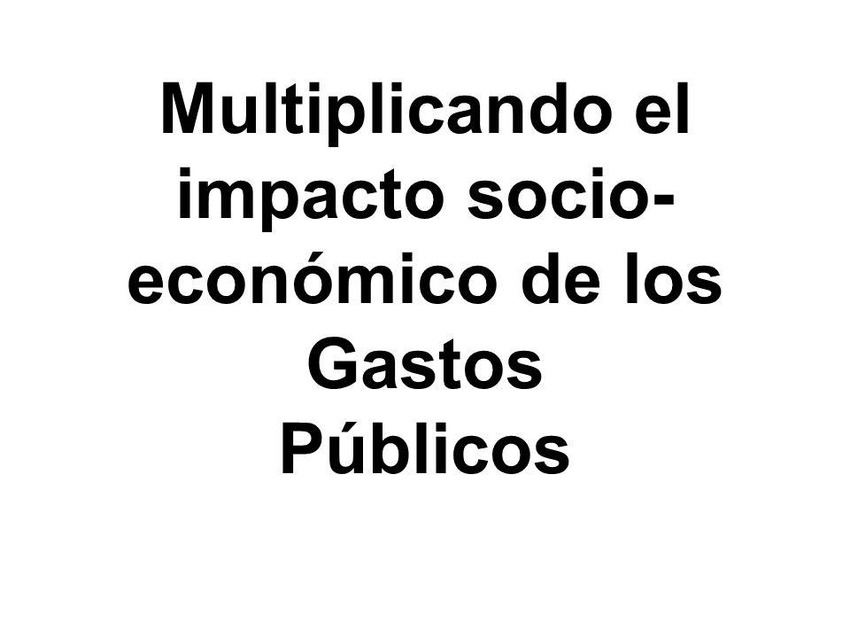 Multiplicando el impacto socio- económico de los Gastos Públicos
