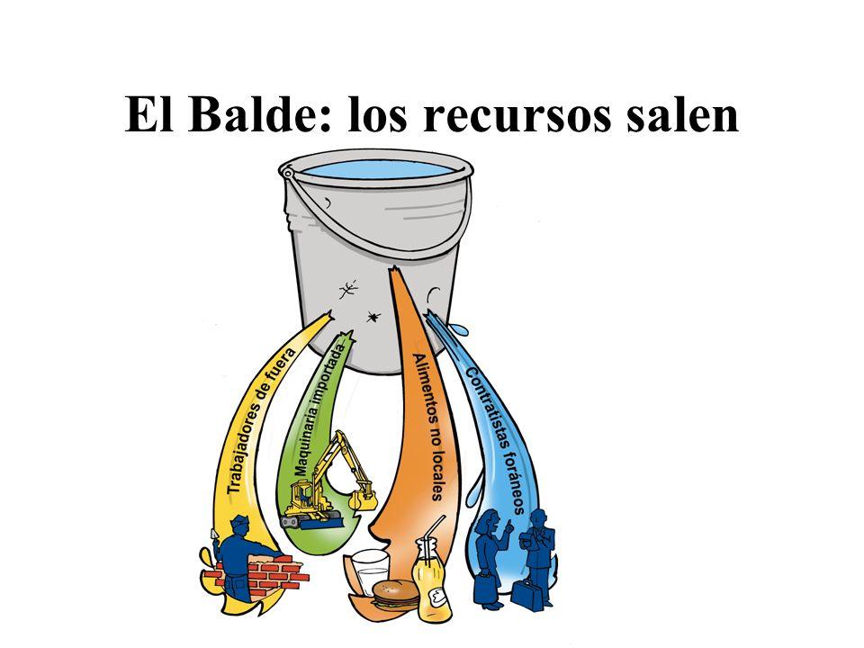 El Balde: los recursos salen
