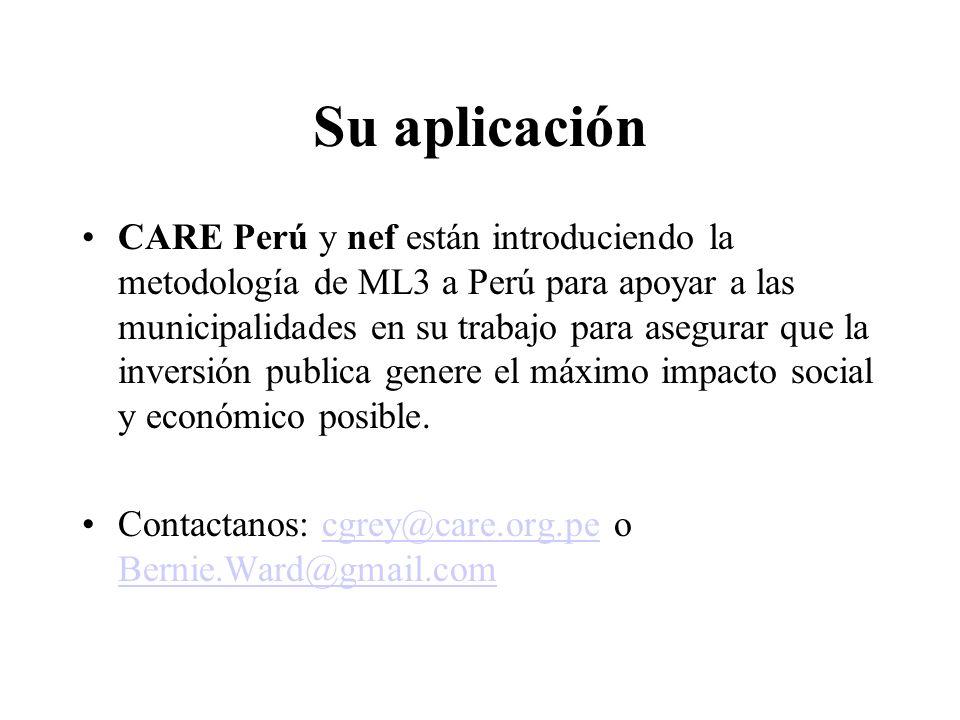 Su aplicación CARE Perú y nef están introduciendo la metodología de ML3 a Perú para apoyar a las municipalidades en su trabajo para asegurar que la in